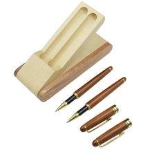 Один набор 2 гелевых ручек с Чехол деревянная гелевая ручка