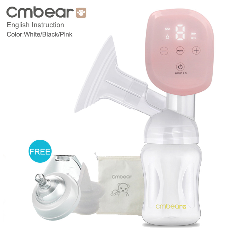 2020 Cmbear All-in-on Intelligent LCD Display USB Breast Pump Baby Breastfeeding Painless Powerful Electric Breast Pump Bottle
