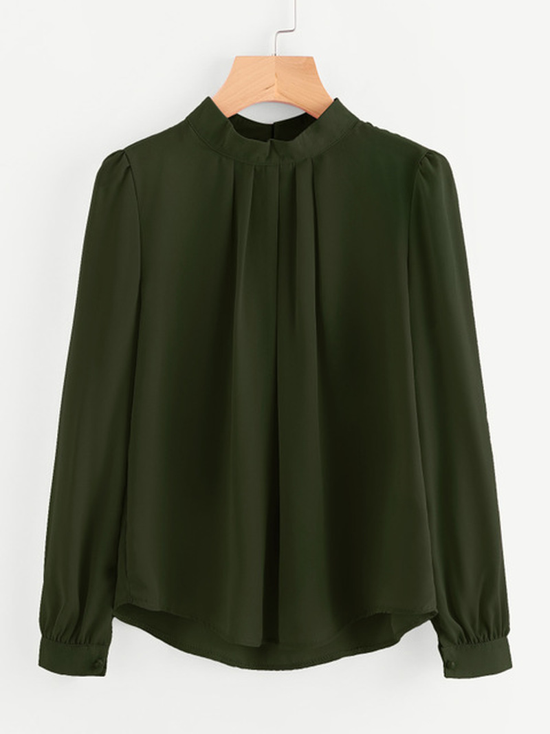 Long Sleeve Chiffon Shirt Maternity Shirt Tops And Blouses Ladies Solid Color O-neck Women Clothes Maternity Wear