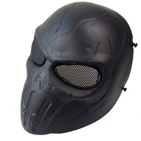 Outdoor Skull Full Face Airsoft Mask With Metal Mesh Eye Protection