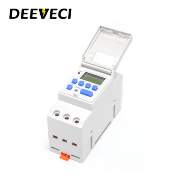 цена на AC 12V 24V 220V 16A 25A Weekly Programmable Digital LCD Electronic Timer Switch Timer Control Relay Din Rail Type Time Relay