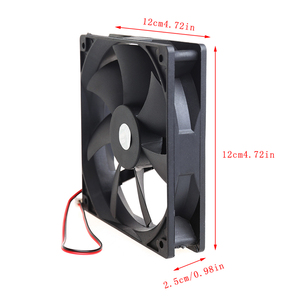 Image 5 - 12cm haute vitesse ordinateur DC 12V 2Pin PC boîtier système hydraulique ventilateur de refroidissement 12025