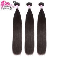 BEAUTY FOREVER – lot de 3 tissages de cheveux péruviens 100% naturels Remy lisses, couleur naturelle, 8-30 pouces, livraison gratuite