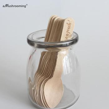 1000x Ipersonalized ce Cream Spoons Sticks dessert Spoons Mini Wooden Spoons You are a Peach Can Customized Text wholesale фото