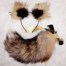 אמיתי שועל זנב קשת מתכת התחת Neko חתול אנאלי תקע ארוטי אנימה קוספליי אביזרי צעצועי מין למבוגרים זוגות