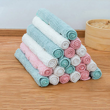 Non-stick Oil Dish Towel Coral Fleece Kitchen Towels Strong Absorbent Soft Dish Cloth Household Cleaning Tools