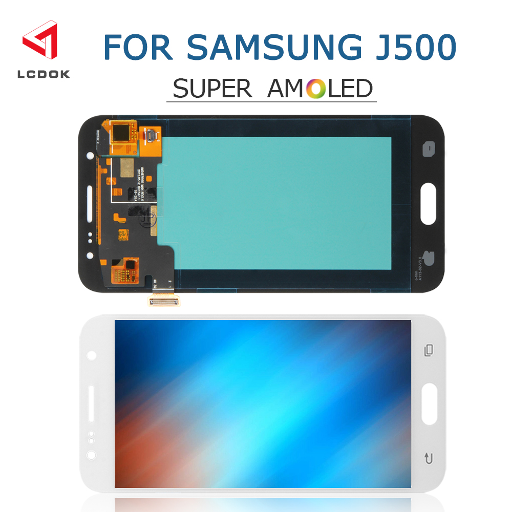<font><b>J500</b></font> Super <font><b>Amoled</b></font> LCD For Samsung Galaxy J5 2015 <font><b>J500</b></font> J500F J500M J500H LCD Display Touch Screen Digitizer Assembly Panel Parts image