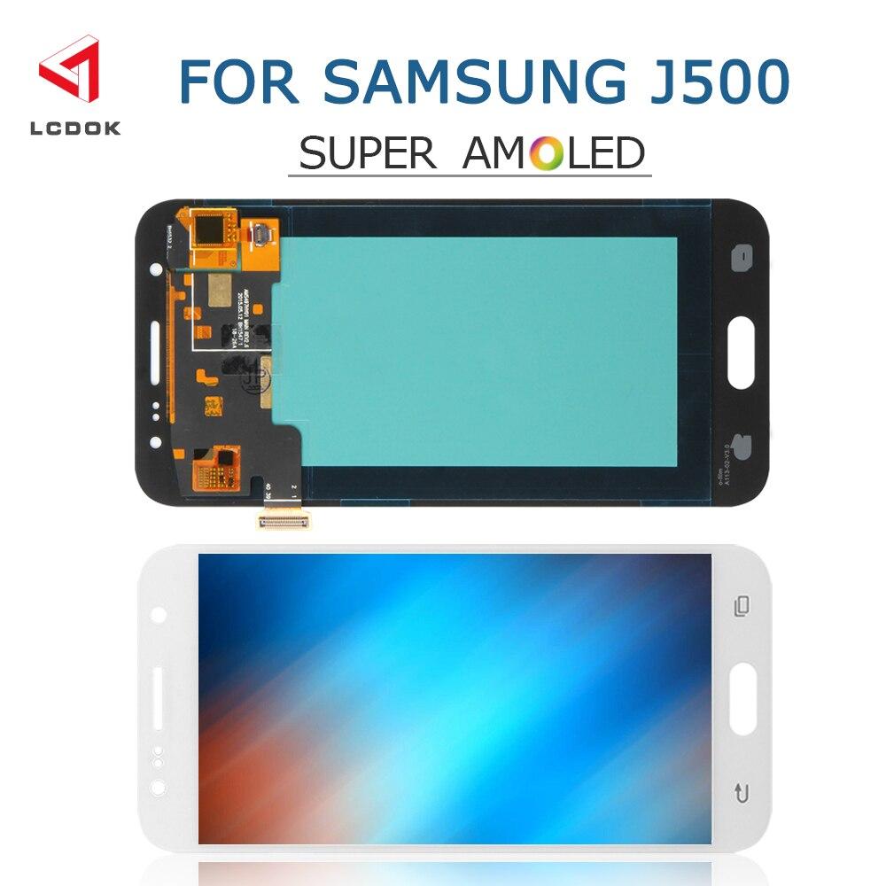 J500 Super Amoled LCD pour Samsung Galaxy J5 2015 J500 J500F J500M J500H LCD écran tactile numériseur pièces de panneau d'assemblage