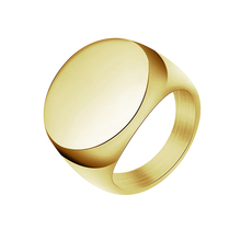 2019 High Polished Signet Ring Men Jewelry Solid Stainless Steel Fashion Man's Ring Engagement Ring Biker Unique Ring For Men wholesale men s high polished signet solid stainless steel man ring 316l stainless steel biker ring for men