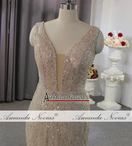Image 3 - Vestido de novia de estilo playero champán, sexy, transparente