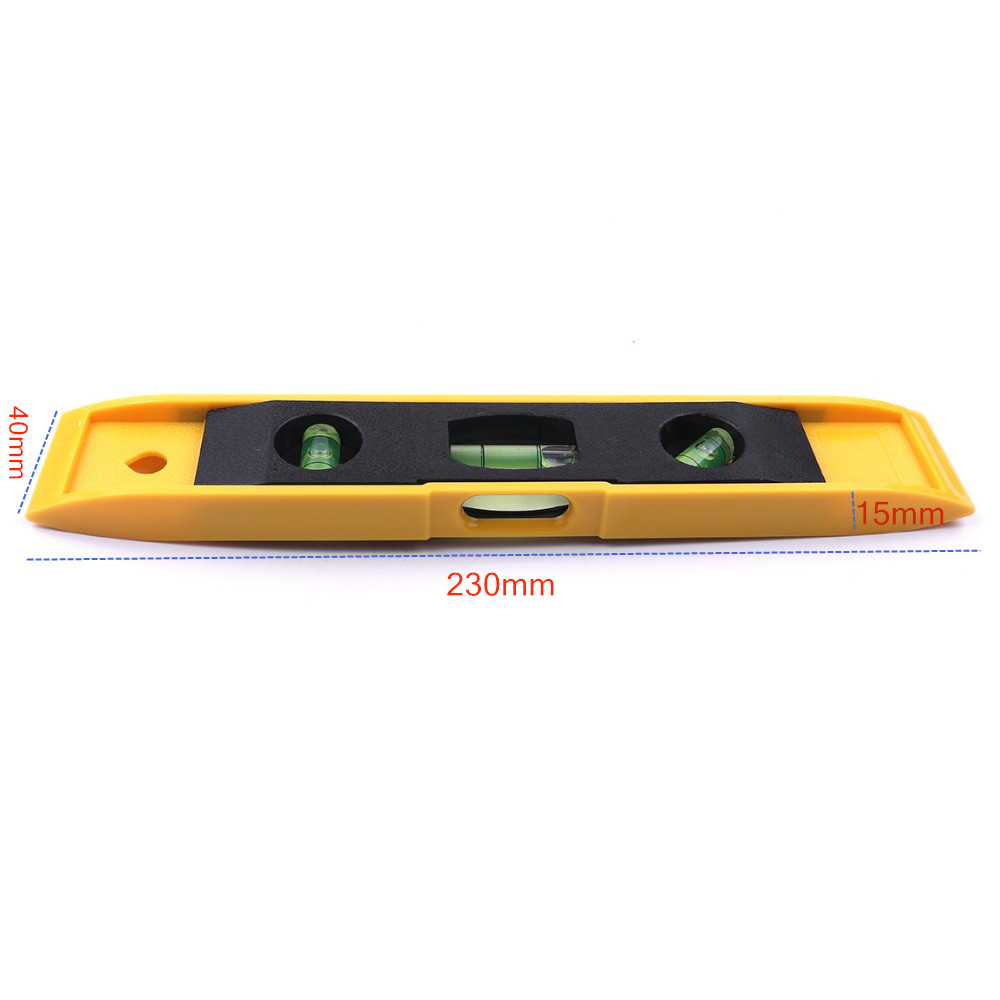 Image 4 - Hot 9'' Spirit Level Bubble Ruler Magnetic ABS Shell Vertical Horizontal 45 Degree Bubble Level Measuring Instrument Tool-in Level Measuring Instruments from Tools