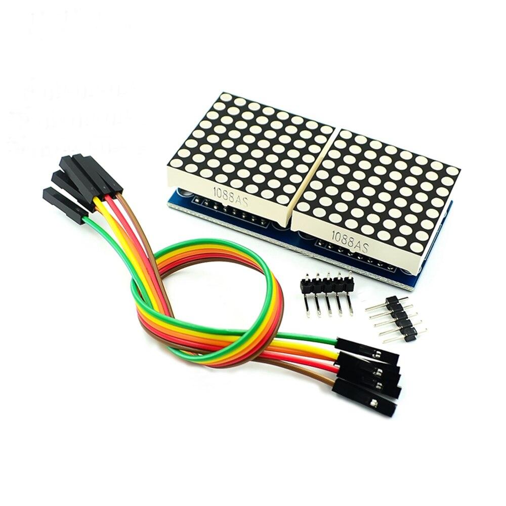 2 Bit MAX7219 LED Display Control Board 8 X 8 Dot Led Matrix MCU Control Module 5V Interface Output Input Common Cathode Display