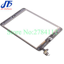 10Pcs Replacement For ipad Mini 2 1 mini1 mini2 Digitizer Touch Screen with home button and IC Connector + Flex Cable Assembly