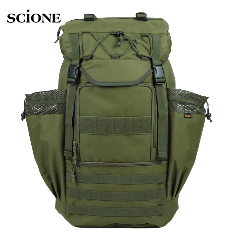 55L Outdoor Camping Backpack Male Military Tactical Waterproof Men Hunting Hiking Trekking Bag Outdoor Sport Rucksack XA991WA