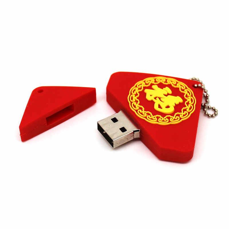 Festival da primavera dísticos 128MB GB 8 4 gb de Drives Flash USB gb 32 16 GB 64GB pendrive Memory stick Pen Drive Presente do Ano Novo Chinês