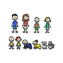 Szwl minha família adesivo de carro anime um grande cão da família gato dos desenhos animados adesivos vinil decalques à prova dwaterproof água para motocicletas, 20cm * 15cm