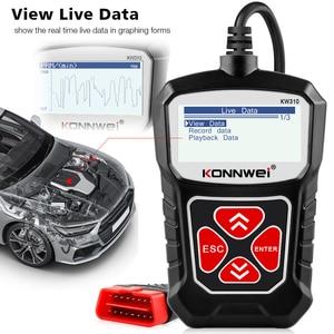 Image 4 - KONNWEI KW310 OBD2 skaner dla samochodowe OBD 2 skaner samochodowy narzędzie diagnostyczne skaner samochodowy narzedzia samochodowe język rosyjski PK Elm327