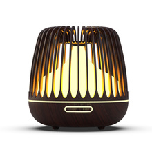 KBAYBO 500ML Aroma Diffuser Essential Oil Ultrasonic Air Humidifier Wood Grain 7 Color Changing LED Lights Cool Mist for Home цена и фото