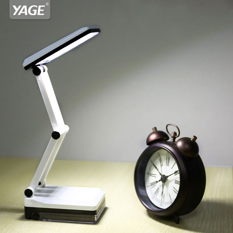 YAGE Mini Led Table Lamp Foldable Table Light Rechargeable 600mAh Battery Desk Light 16pcs LED Desk Lamps Student Special Lampe