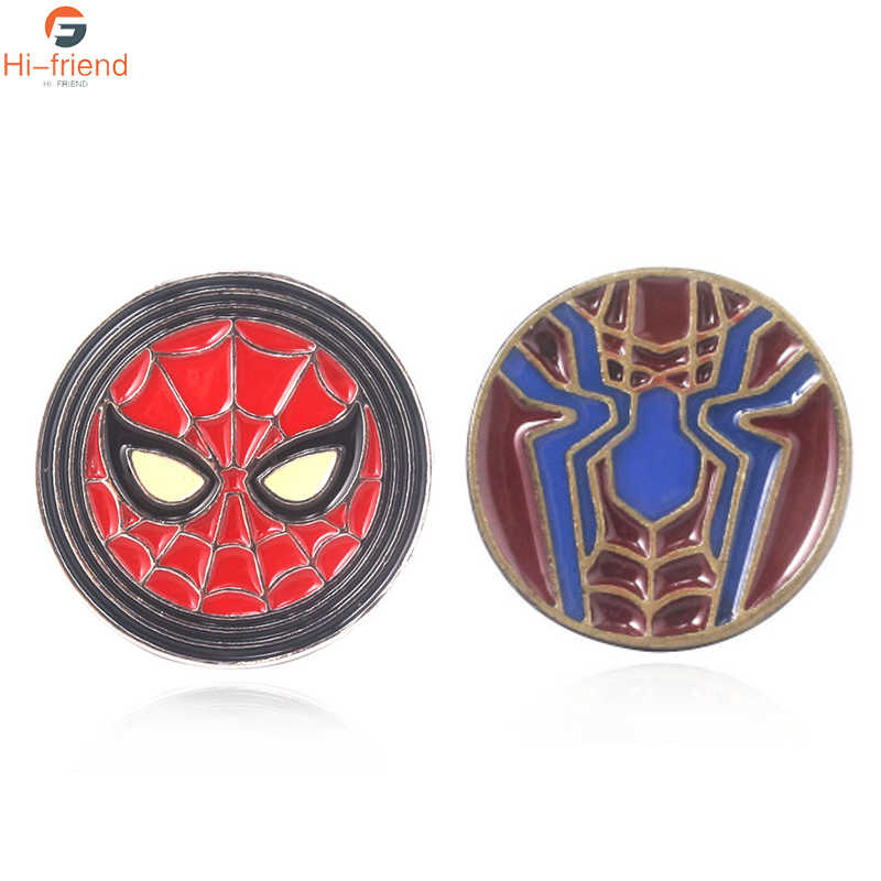 The Avengers Spider-Man Lencana Bros Captain Marvel Thanos Thor Loki Pin Bros Kerah Pin Kemeja Jeans Perhiasan Keren