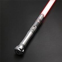 CIELTAN – sabre Laser RGB Duel fight, Flash sur collision, lame de 1 pouce, poignée en métal, 6 jeux de sons, réglage du Volume TS014