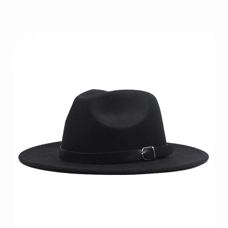 2020 New Winter Autumn Woolen Women Men Fedoras Top Jazz Hat European American Round Bowler Hat Bowler Hats