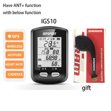 IGPSPORT cronómetro inalámbrico para bicicleta, con GPS, ordenador inalámbrico IPX6, velocímetro de ciclismo a prueba de agua