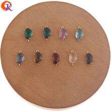 Design cordial 50 pçs 8*14mm acessórios de jóias/brincos de cristal conectores/forma oval/feito à mão/brinco descobertas/diy fazendo