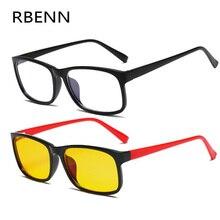 RBENN анти-голубые лучи очки для женщин и мужчин компьютерные очки для компьютера желтые линзы анти-голубые световые очки по назначению рамки