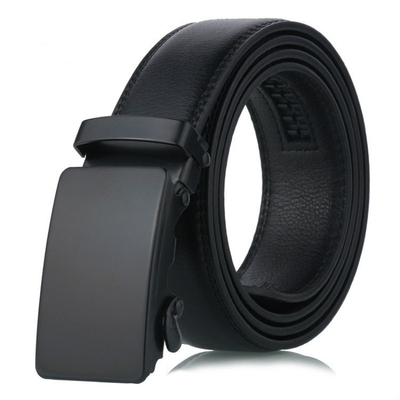 New Brand Buckle Free Mens Belts Luxury Leather Belts For Men Automatic Buckle Belts For Jeans Pants Leather Belt Male 110cm