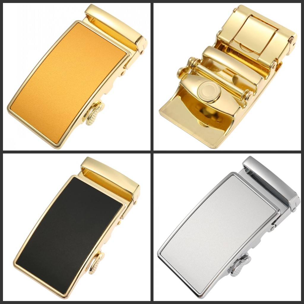 Fashion Alloy Automatic PU Belt Buckles For Men's Leather Waist Belts For Men Pants Buckles 3.6cm Ratchet Accessories LY55-0027
