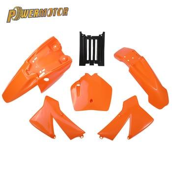 Kit de guardabarros de plástico de 3 colores para KTM, SX, 50CC, 50, 50SX, KTM50, Mini Adventure Junior, Adventur, Dirt Bike Pit Bike