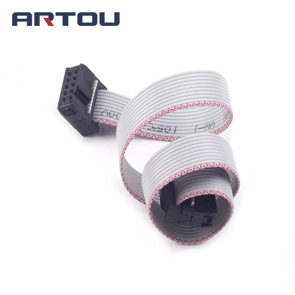 1PCS 30CM 10 Pin USB ASP ISP JTAG AVR Wire 10P IDC Flat Ribbon DATA Cable 2.54mm