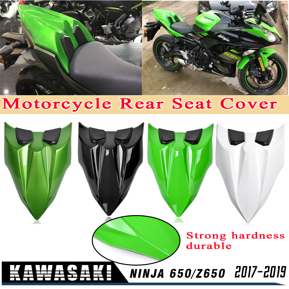 Z650 Motorcycle Accessories Rear Passenger Seat Cover Tail Section Seat Cowl Cover For Kawasaki Z 650 Ninja 650 2017 2018 2019