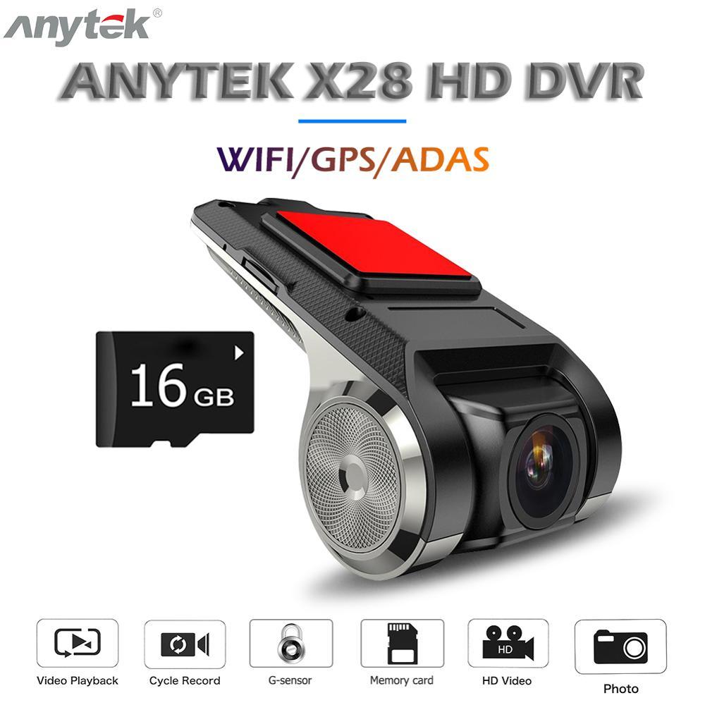 1080P FHD Car DVR 2MP Camera Video Recorder  170° GPS ADAS G-sensor Dash USB de