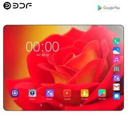10.1 Inch Telefoon Sim-kaart Telefoontje Tablet 2.5D Staal Scherm Android 9.0 Tien Core 8 Gb Ram 128 Gb rom Wifi Bluetooth Gps Tablet Pc