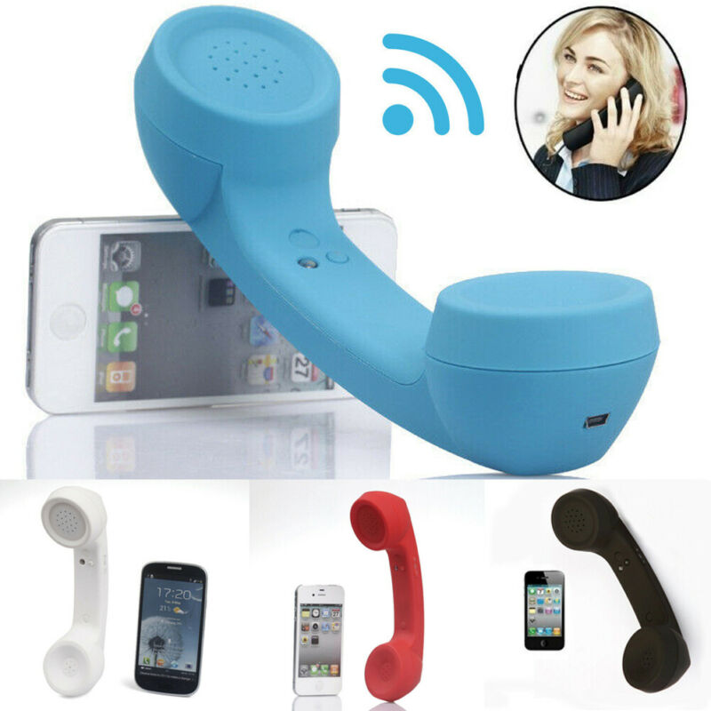Wireless Bluetooth2.0 Retro Telephone Handset Receiver Headphone For Phone Call