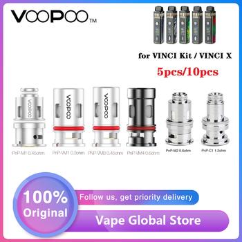 5 sztuk 10 sztuk Hot oryginalny VOOPOO PnP cewki dla VINCI Mod Pod zestaw Vinci X z PnP-VM1 0 3ohm cewka z siatką dla E Cigerette spirala grzejna tanie i dobre opinie VOOPOO PnP-VM1 Mesh Coil DS NC 5pcs pack