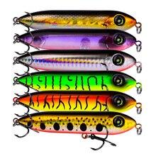 цена на 1pcs Snake Head Pencil Bait 8 Colors 10cm/11.5g Fishing lure Floating Crankbait Sea Bass Pike Topwater 3D Eyes Plastic Wobbler