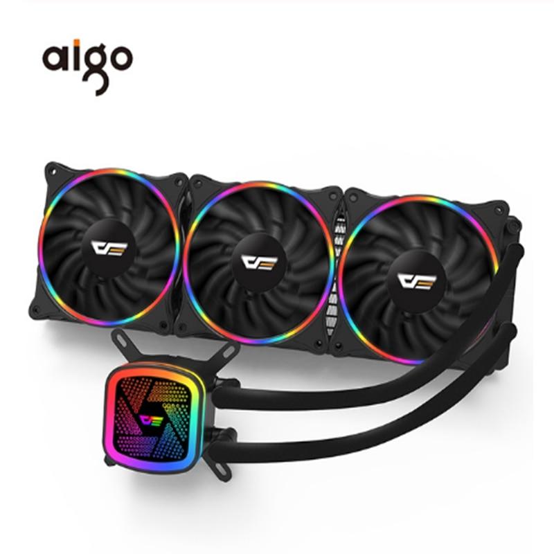Aigo darkflash DT120/240/360 obudowa pc chłodzenie wodne wentylator komputera CPU zintegrowany chłodzenie wodne dla LGA 775/115x/AM2/AM3/AM4