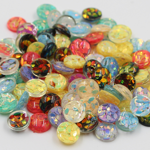 New Fashion 30pcs 12mm Mixed Colors Leaf Style Flat Back Resin Cabochons For Bracelet Earrings Patch Accessories