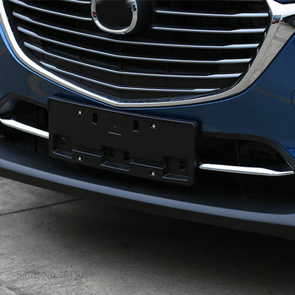 AITWATT For <font><b>Mazda</b></font> CX-3 <font><b>CX3</b></font> 2017 2018 <font><b>2019</b></font> ABS Chrome Front Lower Bumper Air-inlet Grille Car Styling 2Pcs image