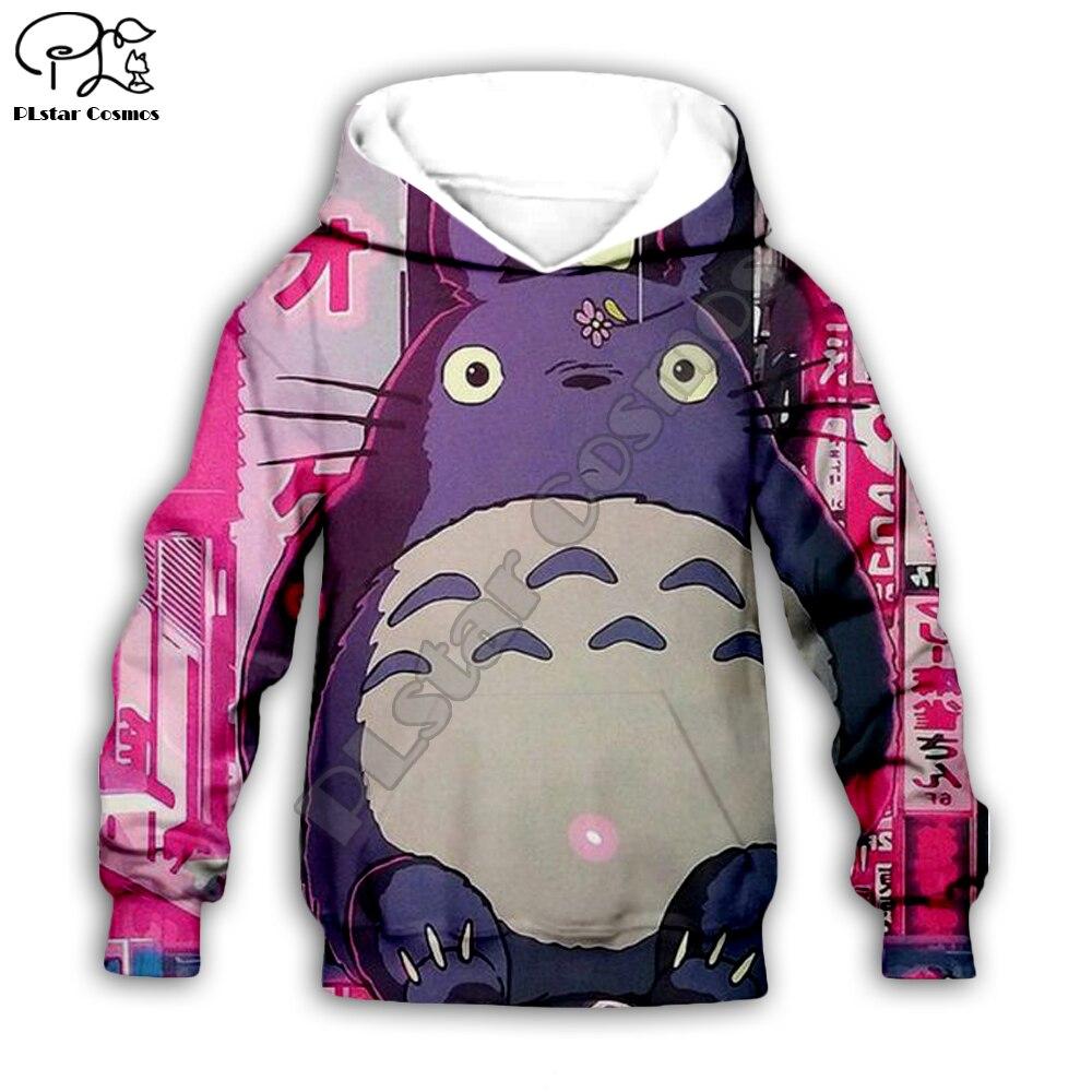 Japanese Anime Totoro Kids Cloth Baby Children's Wear 3d Hoodies/boy Girl Sweatshirt Cartoon Hot Movie Pant Style-3