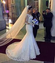 Sexy Women Simple Vintage Mermaid  Wedding Dress 2019 Bride Vestido De Novia Sirena