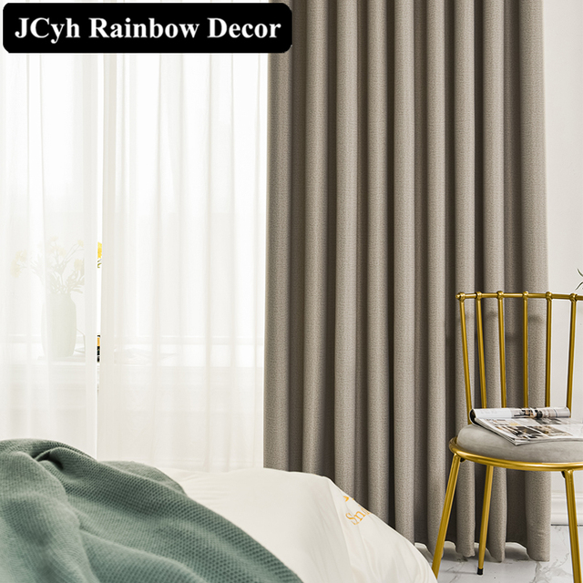 Modern Thick Solid Blackout Curtains 3