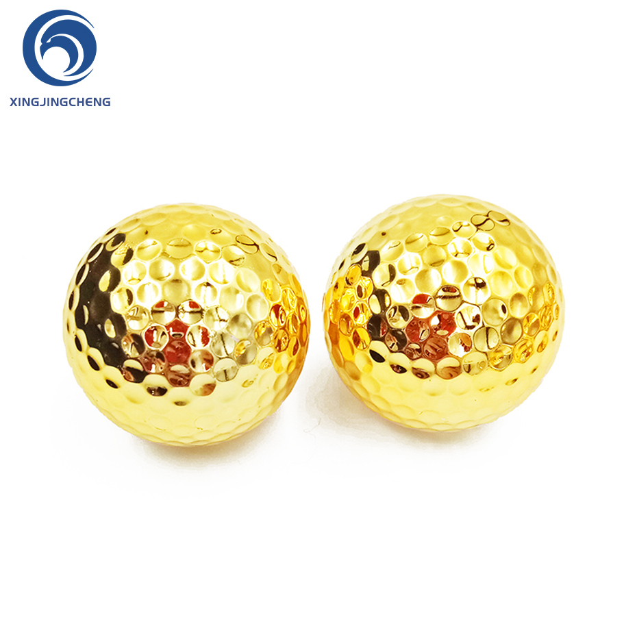 Unique Silver Gold Golf Balls For Golfer Indoor Outdoor Swing Putter Training Practice Balls Gift For Father Friend Christmas