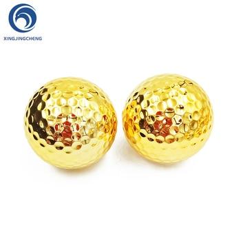 Mingi de golf unice din aur argintiu pentru mingi de antrenament de antrenament pentru jucători de golf în aer liber
