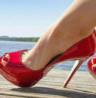Red Patent Leather High Heel Pumps Women Shoes Peep Toe High Platform 14CM Wedding Shoes Bride Stiletto Heels Ladies Pumps
