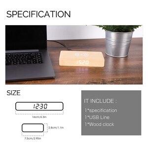 Image 5 - JINSUN Wecker mit Handy Drahtlose Ladegerät LED Moderne Digitale Uhr mit Qi Lade Elektronische Desktop Uhr Despertador
