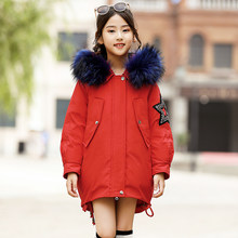 HSSCZL girls duck down jackets 2019 winter thicken hooded outerwear overcoat natural ful girl down coat kids children's clothes(China)